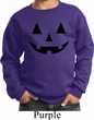 Kids Halloween Sweatshirt Black Jack O Lantern Sweat Shirt