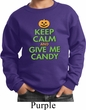 Kids Halloween Sweatshirt Keep Calm and Give Me Candy Sweat Shirt
