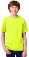 Kids High Visibility Performance Biking Shirt - Safety Green