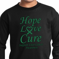 Kids Liver Cancer Hope Love Cure Youth Long Sleeve