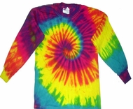 Kids Long Sleeve Tie Dye T-Shirts