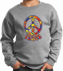 Kids Peace Sweatshirt Funky Peace Sweat Shirt