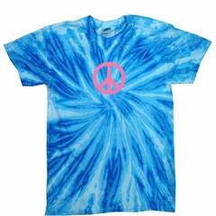 Kids Peace Tie Dye Shirt Pink Peace Blueberry Twist Youth Tie Dye Tee
