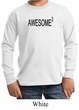 Kids Shirt Awesome Cubed Long Sleeve Tee T-Shirt