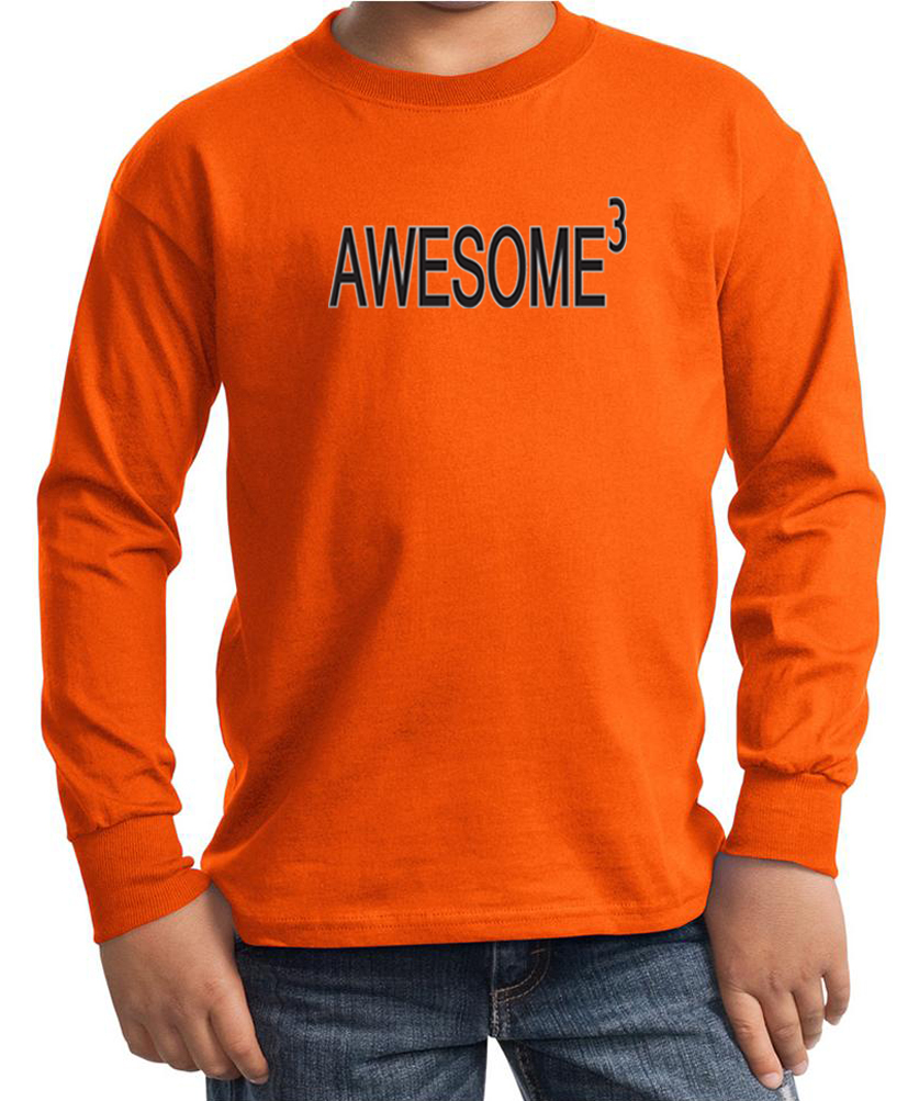 kids shirt awesome cubed long sleeve tee t shirt awesome