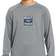 Kids Shirt Built Ford Tough Small Print Dry Wicking Long Sleeve Shirt