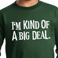 Kids Shirt Kind of a Big Deal White Print Long Sleeve Tee T-Shirt