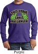 Kids Shirt This Ghoul Loves Halloween Long Sleeve Tee T-Shirt