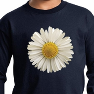 Kids Shirt White Daisy Long Sleeve Tee T-Shirt