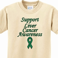Kids Support Liver Cancer Awareness Youth T-shirt