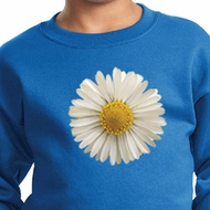 Kids Sweatshirt White Daisy Sweat Shirt