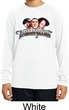 Kids Three Stooges Shirt Stooges Faces White Dry Wicking Long Sleeve