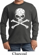 Kids White Distressed Skull Long Sleeve Shirt