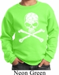 Kids White Distressed Skull Sweatshirt
