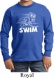 Kids White Penguin Power Swim Youth Long Sleeve