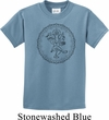Kids Yoga Circle Ganesha Black Print Youth Shirt