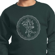 Kids Yoga Circle Ganesha White Print Youth Sweatshirt