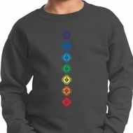 Kids Yoga Diamond Chakras Youth Sweatshirt