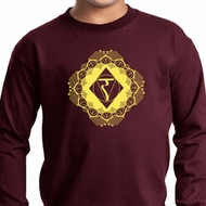 Kids Yoga Diamond Manipura Youth Long Sleeve