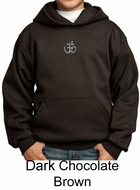 Kids Yoga Hoodie Sweatshirt Aum Hindu Patch Meditation Youth Hoody