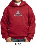 Kids Yoga Hoodie Sweatshirt Lotus Pose Meditation Youth Hoody