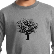 Kids Yoga Long Sleeve Black Tree of Life Youth Long Sleeve