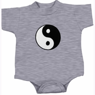 Kids Yoga Romper Yin Yang Patch Small Print Onesie