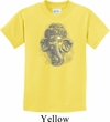 Kids Yoga Shirt 3D Ganesha Lights Tee T-Shirt