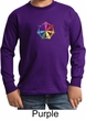 Kids Yoga Shirt 7 Chakra Circle Long Sleeve Tee T-Shirt
