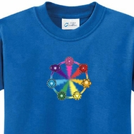 Kids Yoga Shirt 7 Chakra Circle Tee T-Shirt