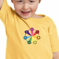 Kids Yoga Shirt 7 Chakra Circle Toddler Tee T-Shirt