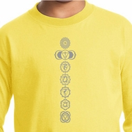 Kids Yoga Shirt 7 Chakras Meditation Youth Long Sleeve Shirt
