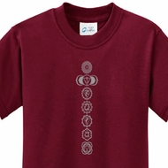 Kids Yoga Shirt 7 Chakras Meditation Youth T-shirt