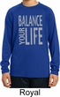 Kids Yoga Shirt Balance Your Life Dry Wicking Long Sleeve Tee T-Shirt