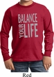 Kids Yoga Shirt Balance Your Life Long Sleeve Tee T-Shirt