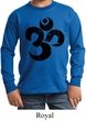 Kids Yoga Shirt Black Distressed OM Long Sleeve Tee T-Shirt