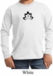 Kids Yoga Shirt Black Namaste Lotus Long Sleeve Tee T-Shirt