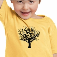 Kids Yoga Shirt Black Tree of Life Toddler Tee Shirt
