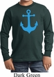 Kids Yoga Shirt Blue Anchor Long Sleeve Tee T-Shirt