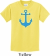 Kids Yoga Shirt Blue Anchor Tee T-Shirt