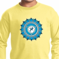 Kids Yoga Shirt Blue Vishuddha Long Sleeve Tee T-Shirt