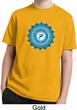 Kids Yoga Shirt Blue Vishuddha Moisture Wicking Tee T-Shirt