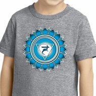 Kids Yoga Shirt Blue Vishuddha Toddler Tee T-Shirt