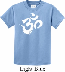Kids Yoga Shirt Brushstroke Aum Tee T-Shirt