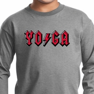 Kids Yoga Shirt Classic Rock Yoga Long Sleeve Tee T-Shirt
