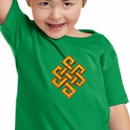 Kids Yoga Shirt Endless Knot Toddler Tee T-Shirt