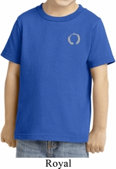 Kids Yoga Shirt Enso Pocket Print Toddler Tee T-Shirt