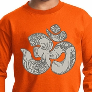 Kids Yoga Shirt Ganesha OM Long Sleeve Tee T-Shirt