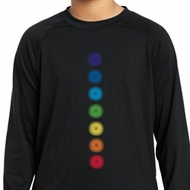 Kids Yoga Shirt Glowing Chakras Dry Wicking Long Sleeve Tee T-Shirt