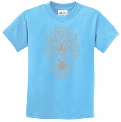 Kids Yoga Shirt Grey Bodhi Tree Tee T-Shirt